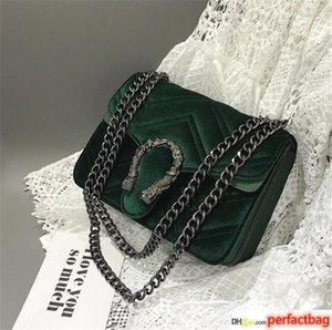 High Quality Deaigner Luxury Handbag Winter New Snakehead Lock Velvet Classic Embroidered Line Wavy Women Chain Bag Elegant Temperament 3