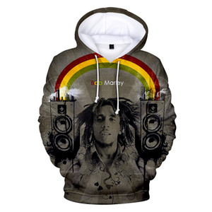 2020 HIP HOP Bob Marley 3D Hoodies For Men And Women Reggae Sweatshirts Print Pullover Unisex Tracksuit