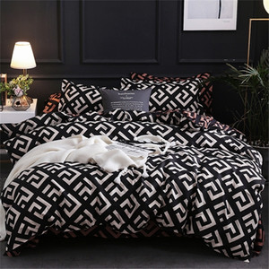 Modern Geometric California King Biancheria da letto Set Levigatura Duvet Cover Set Fedetto Piumino Covers 229 * 260 3pcs Set Bed Set 201211