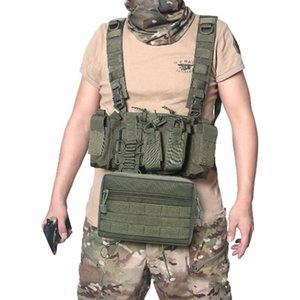 Outdoor Camping Hunting Molle Storage Nylon Bags Daily Waistcoat Chest Bags Sports ChestWaist Girl Cute Leisure Chest