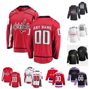 Custom Washington Capitals Tyler Lewington Philippe Maillet Beck Malenstyn Connor McMichael Vitek Vanecek 2020 Hockey Jersey Women Stitched