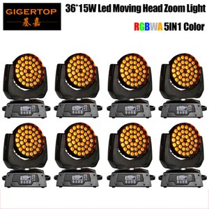 New Arrival 8XLOT Zoom Led Moving Head Light 36x15W 5in1 RGBWA Color Mixing Zoom Beam 15-60 Degree Led Moving Head Washer