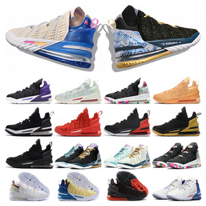 New outdoor mens basketball shoes 18s jumpman 18 Court Purple James Gang Empire Jade Melon Tint mens sports sneakers trainer fashion
