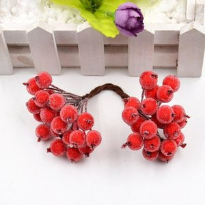 20pcs lot 40 Heads Pompom Stamen Berry Artificial Flowers For Wedding Christmas Decoration Diy Craft Wreath Scrapbook jllrKH