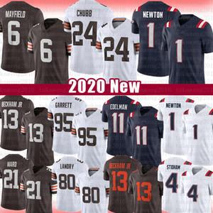 6 Baker Mayfield 24 Nick Chubb 1 Cam Newton Football Jersey 11 Julian Edelman Jarvis Landry 13 Odell Beckham Jr 95 Myles Garrett Denzel Ward