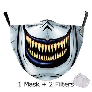 Nadanbao Classic Joker Print Masks Adult Halloween Cosplay Face Cover Washable Reusable Masks Skull Kid Mask Carnival Party Prop yxlRRE