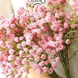 90 Heads Artificial Flowers False Baby's Breath Gypsophila Wedding Decoration DIY Birthday Photo Props Flower Heads Branch