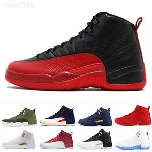 Mens 12s basketball shoe Winterized WNTR Gym Red Michigan Bordeaux 12 white black The Master Flu Game taxi sports sneaker trainers HTT6R