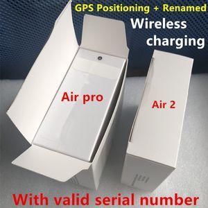 H1 fones chip GPS Rename Air Ap3 pro Ap2 Tws Gen 2 Pods janela pop-up Bluetooth Headphone auto apara Earbuds caso de carregamento sem fio nova