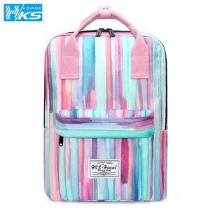 Women Canvas Backpacks Candy Color Waterproof School Bags for Teenagers Girls Big Cute Laptop Backpack Shoulder Kawaii Bags 201013