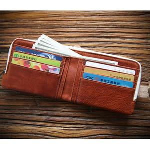 13 x 10 x 2,5 cm Männer Leder kurze Brieftasche ID Halter Vintage Bifold Pocket Change Münze Business-Geldbörse