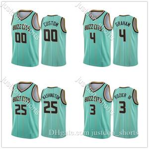 Hombres Devonte 'Graham 2 Lamelo Ball Shirts 2020/21 Mint Green Buzz 00 City Jerseys S-2XL Verde Blue Shirts