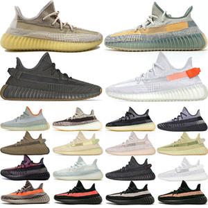 Adidas Kanye West yeezy boost 350 v2 yezzy Мужчины Женщины Кроссовки Pharrell Williams Solar Pack Черный Белый Мужской Тренер Спортивные Спортивные Кроссовки 36-47