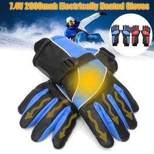 Electric Heated Gloves Waterproof Battery Powered Heating Gloves Winter Warm Thermal Glove Motorcycle Racing Climb Skiing