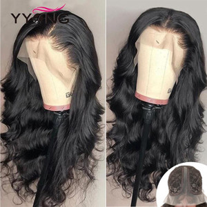 YYong 1x4 &1x6 Topline Part Lace Wig Body Wave Lace Front Human Hair Wig Remy Brazilian Body Wave Transparent Wigs 120%