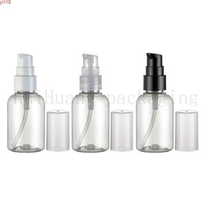 50PCS 50ML empty transparent square cosmetic bottles with screw cap,50cc lotion plastic container stopper DIY clear bottlehigh qualtity