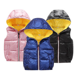 Fashion new Girl warm vest Child coat Children Outerwear Winter Coats Kids Clothes Boys Hooded Cotton jacket Baby Girls clothes