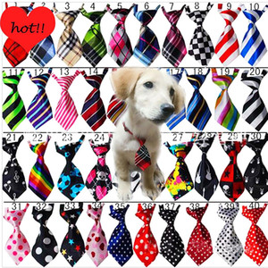 Dog Clothes Grooming Cat Striped Bow Tie Animal Striped Bowtie Collar Pet Adjustable Neck Tie White Collar Dog Necktie For Party Wedding