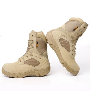 Hot Sale-Four Season Water Proof Military Combat Boots Men Outdoor Hunting Jungle Shoes Desert Men's Tactical Motorcycle Boots
