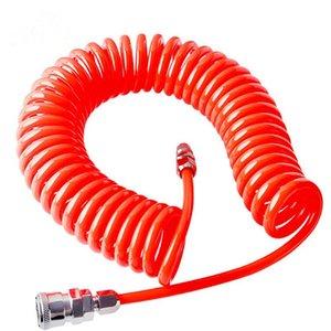 Tube compresseur d'air Tuyau 3M 6M 9M 12M 15M polyuréthane avec des composants pneumatiques Spring Tube Coupler Portable
