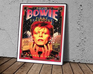 Art Poster David Bowie Ziggy Stardust Poster Canvas Paintings Wall Art Picture for Living Room Bedroom Home Décor