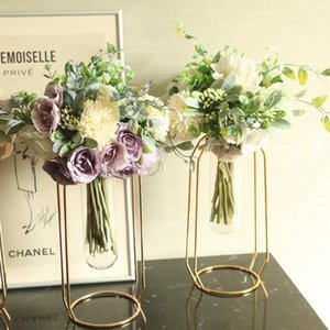 Silk Peony Hydrangea Hybrid Bouquet Artificial Flower Bridal Bouquet Wedding Decoration DIY Home Party