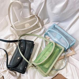 Vintage Small Shoulder Bags For Women Summer transparent Beach Bag Trendy Ladies Totes Bags Mini Handbag and Purse
