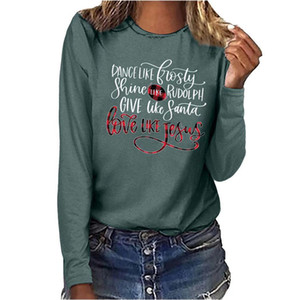 Mode Femmes T-shirts Mots imprimés Sweats de Streetwear Sweatshirts Sweatshirts à manches longues à manches longues