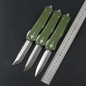 Microtech Tactical knives COMBAT TROODON Automatic knife Hellhound D2 steel 6061-T6Aluminum handle Outdoor camping survival EDC tool