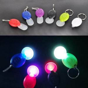 Mini LED Light Keychain Keychain Light Lamp Micro LED Flashlight Keychain Torch Outdoor Camping Emergency Key Ring Light plastic