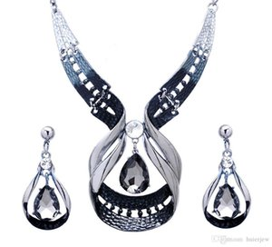 Bridesmaid Jewelry Set for Wedding Platinum Plated Austrian Beautifully Necklace Earrings Party Jewelry Sets