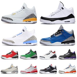 retro 3 aj 3s TOP QUALITÉ 2020 nouvelle arrivée Jumpman UNC des femmes des hommes chaussures de basket-ball Fragment Knicks Rivals Chicago Fragment Sneakers