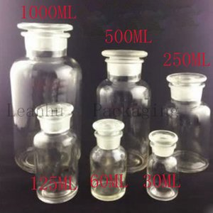 Clear Glass Reagent Bottle Alcohol Container ,Empty Cosmetics Packaging Apothecary bottles