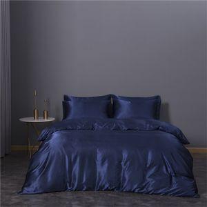 Set da letto a tre pezzi Set di biancheria da letto Duvet Cover Queen Size BedClothes Comforter Sets Imitation Seta Biancheria da letto Articolo Vendita calda 74xn3 K2