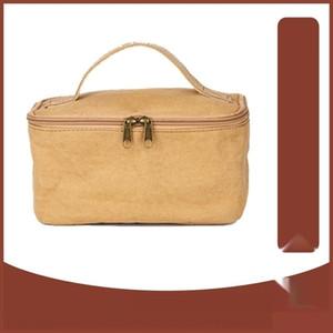 IKOwN torba inek derisi kağıt yıkama su geçirmez bagportable seyahat Kraft kağıt Yıkanmış depolama saklama DuPont kozmetik çantası 1fghO özelleştirilmiş