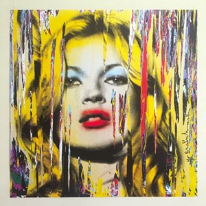 """MR. BRAINWASH """"KATE MOSS"""" Home Decor Handcrafts  HD Print Oil Painting On Canvas Wall Art Canvas Pictures 201026"""