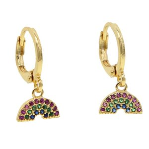 2020summer rainbow trendy jewelry for girls cute sweet watermelon beach charm dangle earring gold filled gorgeous simple jewelry