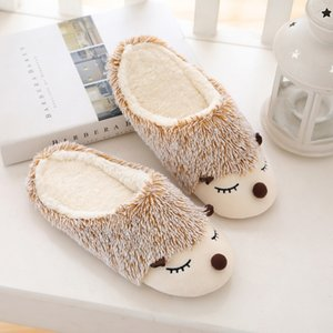 Furry Animal Slippers Women Cute Home Floor Cotton Slippers For Women Warm Autumn Winter Bedroom Fur Slides Ladies Shoes VT1304 201103
