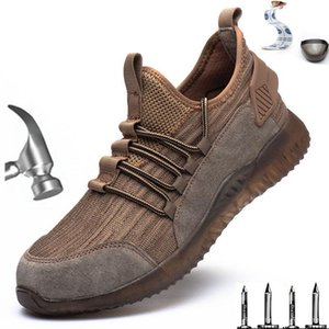 New men's work safety shoes summer breathable boots work steel head anti-smash construction safety sports shoes