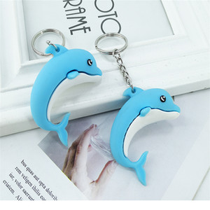 2020 Newly and Creative PVC Soft Rubber Keychain Pendant Dolphins Marine Series Doll Package Hire Key Pendant Gift for Lovers and Universal