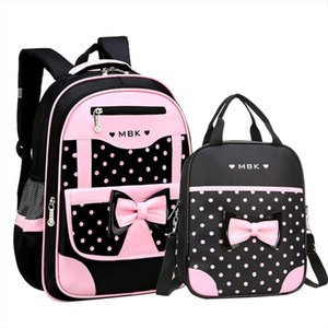 Orthopedic Backpack Girl School Bags Zipper Kid School Bag 2pcs set Cute Children Knapsack Bag For Girl Mochilas