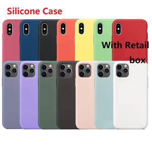 1 кусок! Силиконовый чехол для iPhone 12 7 8 Plus X XS MAX iPhone 12 Pro Max Case для iPhone Case Retail Box
