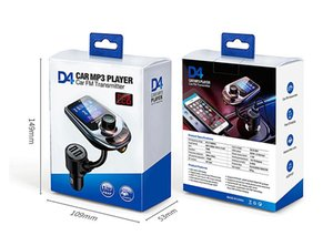 D4 Wireless Bluetooth Car Kit MP3 Player Radio Sender Audioadapter QC3.0 Auto Bluetooth FM Lautsprecher Schnelles USB-Ladegerät Aux LCD-Anzeige