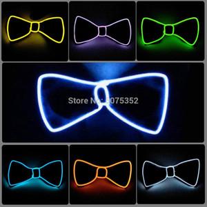 Fête de mariage Décor Glowing Noeud papillon hommes clignotant Bowties Neon Light Up EL Cravate Costume Props costume cravate Bow