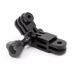 CNC Aluminium alloy Three-Way Pivot Arm Mount Adapter for Hero 1 2 3 3+ 4 5 Session  Yi SJ GitUp Sport Camera Black