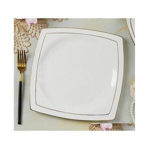 60 Chinese Style Bone China Tableware Set Dinnerware Set Gold Inlaid Jade Trace Gold Simplicity jllOsh xhhair