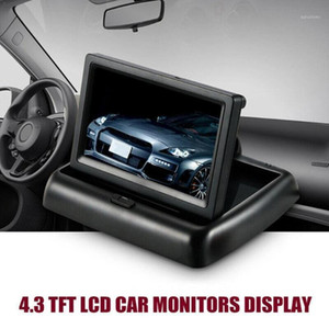 4.3 inch Foldable Car Monitor TFT LCD Display Cameras Parking System Rearview Reverse Monitors For Car Camera V4W71