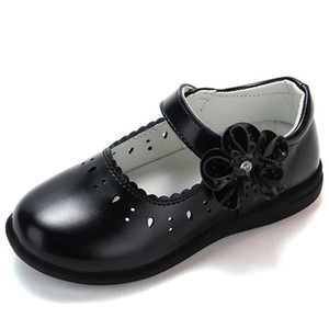 Autumn New Princess Girls Girls Shoes for Kids School Leather Shoes for Student Black Dress أحذية للبنات 3 4 5 6 7 8 9 10 11 12-16t y201028
