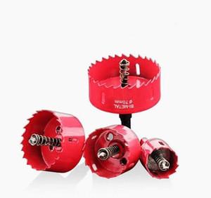 Red Hole Saw Drill Bit Cutter Metal Twist Drill Bits M42 Hss Steel Drilling Kit Opener Carpentry Tools Holesa bbyIBU yh_pack