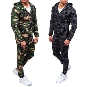 Zogaa 2019 камуфляж куртки набор мужчин камуфляж напечатанный спортивная одежда мужской трексуит топ брюки костюмы толстовки пальто брюки осенью зима1